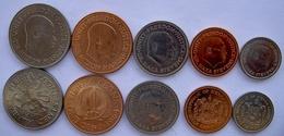 SIERRA LEONE SERIE 5 MONETE 1964-1984 20-10-5-1-0,5 CENT - Sierra Leone