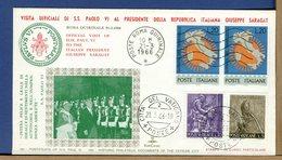 ITALIA - 1966 - VISITA PAPA PAOLO VI A PRESIDENTE REPUBBLICA ITALIANA GIUSEPPE SARAGAT - ROMA QUIRINALE - Popes