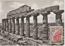 Saint Marin Carte Maximum 1959 Temple De Selinonte 473 - San Marino