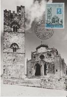 Saint Marin Carte Maximum 1959 Cathédrale D'Erice 474 - Saint-Marin