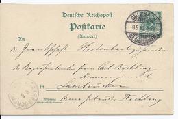 Dt.- Reich (001821) Ganzsache P26A Gelaufen Sulzbach Am 8.5.1899 - Germany