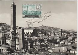 Saint Marin Carte Maximum 1959 Vue De Bologne PA119 - Saint-Marin