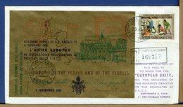 VATICANO - 2.9.1963 - INVITO DI PAPA PAOLO VI A OPERARE PER L'UNITA' EUROPEA - UDIENZA AI DELEGATI FUCI - F.U.C.I. - Comunità Europea