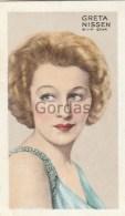Greta Nissen - Actress - Park Drive Cigarettes - Gallaher Ltd. - Stars Of Screen & Stage - Gallaher