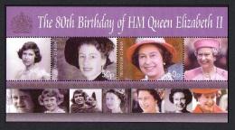 Tristan Da Cunha 80th Birthday Of HM Queen Elizabeth II MS SG#MS864 CV£10+ - Tristan Da Cunha
