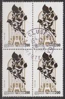 Paris, La Grande Synagogue - FRANCE - Bloc De 4 Timbres - N° 2516 -1988 - Oblitérés