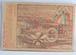 CHROMO Systeme ORIGINAL COLLECTOR N° 19 ANTIQUE AUTO BENZ RACER EXPLICATION IMAGE 3D BOWMAN GUM B.G.H.L.I. 1953 U.S.A. - Voitures