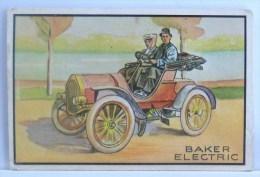 CHROMO Systeme ORIGINAL COLLECTOR N° 28 ANTIQUE AUTO BAKER ELECTRIC DOS Litho IMAGE 3D BOWMAN GUM B.G.H.L.I. 1953 U.S.A. - Autos