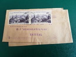 Bande Journaux Adressé à Karikal Cachet Au Dos Inde Française - Storia Postale