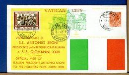 VATICANO - 1962 - VISITA A PAPA GIOVANNI XXIII Del PRESIDENTE REPUBBLICA ITALIANA ANTONIO SEGNI - Cristianesimo
