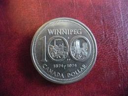 CANADA ARGENT DOLLAR De 1974 WINNIPEG Elisabeth II @ KM# 88a - Canada