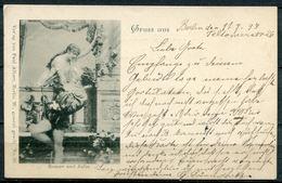 """CPA S/w Bildgrußkarte Romeo Und Julia German Empires 1897""""Gruss Aus----Berlin"""" 1 AK Used - Gruss Aus.../ Grüsse Aus..."""