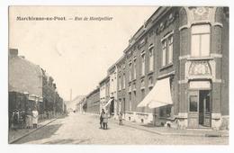 Marchienne Au Pont Rue De Montpellier Carte Postale Ancienne Animée - Charleroi