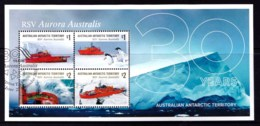 Australian Antarctic 2018 RSV Aurora Australis  Minisheet Used - Australian Antarctic Territory (AAT)