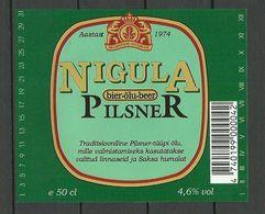 ESTONIA Estland Beer Label Nigula Pilsner - Beer