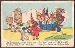 De Kaboutertjes -  Artist:Freddie Langeler. 1944 - Gnome, Gnome, Zwerg, Dwerg, Auto Kinderen, Konijnen, Rabits - Other Illustrators