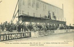 62 - Boulogne Sur Mer - Coupe Des Voiturettes 25 Juin 1911 - Tableau D' Affichage Des Concurents - Autres