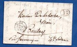 Lettre  / De Paris / Pour Baulay / 1845 - Postmark Collection (Covers)