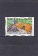 Andorre Français Neuf **  1990  N° 386  Tourisme.  Les Mines De Llors - Neufs