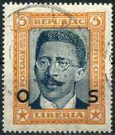 LIBERIA 1923 - [Official Stamps / Dienstmarken] Mi. 138 O, President C.D.B. King (1878-1961)   Overprinted. - Liberia