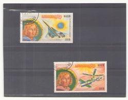 Khmère 1974 Poste Aérienne N° 31 G Et H Oblitéré - Timbres