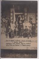 CARTE PHOTO BLERE LA CROIX (37) : LA GARE 1914 - CAPITAINE ACHILLE CAU CHEF VILLE AUX DAMES A CHENONCEAUX  - 2 SCANS - - Bléré