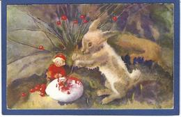 CPA Gnome Lutain Nain Non Circulé Lapin - Fairy Tales, Popular Stories & Legends