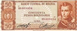 Bolivia P-162  50  Bolivianos  1962  UNC - Bolivie