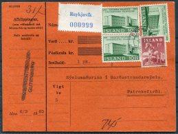 1963 Iceland Pacelcard Reykjavik - Patreksfirdi - 1944-... Republic