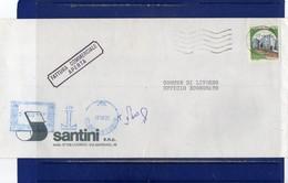 ##(DAN1810)-1987-Busta Fattura Commerciale Aperta Da Livorno Per Città Affrancata L.400, Tassata EMA Blu L.400 - 1981-90: Storia Postale