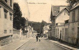 CPA - CHAVILLE (92) - Aspect De La Rue De L'Eglise En 1907 - Chaville