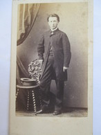 Photographie Ancienne CDV - Jeune Homme - Second Empire - Photographe Durand,  Quai D'Orléans, Lyon - BE - Photographs