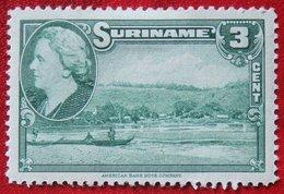 3 Ct Koningin Wilhelmina  NVPH 224 1945 MH / Ongebruikt SURINAME / SURINAM - Surinam ... - 1975