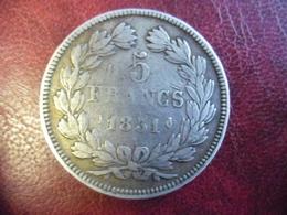FRANCE @ RARE ECU 5 FRANCS 1831 I (Limoges) LOUIS PHILIPPE I Tête Laurée Tranche En Relief ARGENT 25 Grammes à 90 % - J. 5 Francs