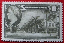 6 Ct Koningin Wilhelmina  NVPH 227 1945 MH / Ongebruikt SURINAME / SURINAM - Surinam ... - 1975