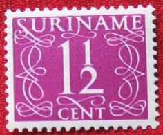 1 1/2 Ct Cijfer Krimpen  NVPH 250  1948-1951 MH / Ongebruikt  SURINAME / SURINAM - Surinam ... - 1975