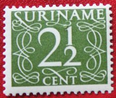 2 1/2 Ct Cijfer Krimpen  NVPH 252  1948-1951 MH / Ongebruikt  SURINAME / SURINAM - Surinam ... - 1975