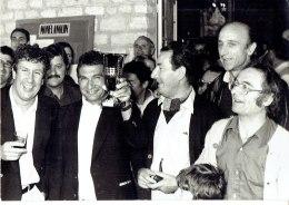 Monflanquin En 1980 Stéphane Collaro,Pierre Bonte Et Le Maire Mr Balségur - Célébrités