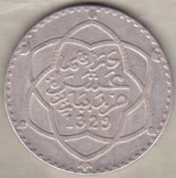 Maroc. 10 Dirhams (1 Rial) AH 1329 Paris, Moulay Hafid I, En Argent - Morocco