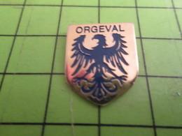 1318a Pin's Pins / Beau Et Rare : Thème VILLES / AIGLE NOIR Sans Barbara ORGEVAL - Badges