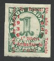 Spain, Cadiz 1 C. 1937, Mi # 17a, MH - Nationalist Issues