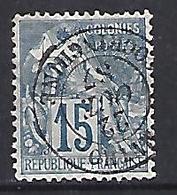 Cochin China 1887 (o) 15c - Cochin China (1886-1887)
