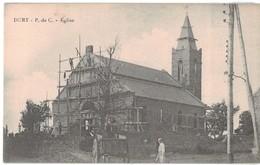 62 Dury Eglise En Travaux échafaudage Ouvrier Ouvriers - Autres Communes