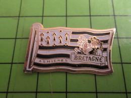 1318a Pin's Pins / Beau Et Rare : Thème VILLES / LES BRETONS D'ASNIERES GRAND DRAPEAU GWEN A DU - Badges