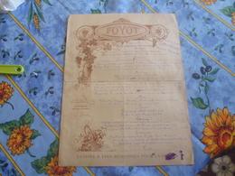 Rare Menu Restaurant Foyot 1923.gelinottes-canetons-poussins-becasses Etc-grande Carte Mets De Choix-arts Decos - Menus