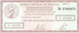 Bolivia  P-188  100000  Bolivianos  1985  UNC - Bolivie
