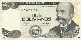 Bolivia  P-202  2  Bolivianos  1985  UNC - Bolivie