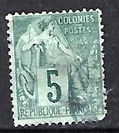 Colonial 1881-86 (o) 5c - Alphee Dubois