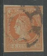 Isabel Ll 4c Orange S'vert Pâle - 1850-68 Kingdom: Isabella II