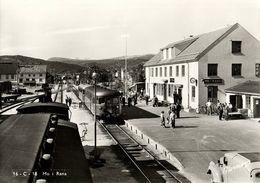 Norway Norge, MO I RANA, Nordland, Railway Station, Trains (1950s) RPPC Postcard - Norway